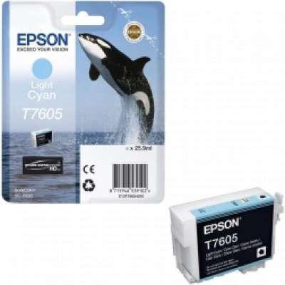 דיו ציאן בהיר מקורי EPSON T7605