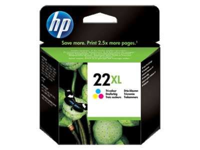 ראש דיו צבעוני HP 22XL C9352CE